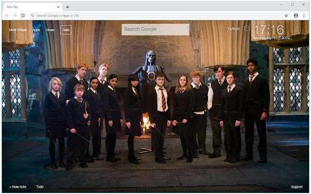 Harry Potter Universe HD Wallpapers New Tab