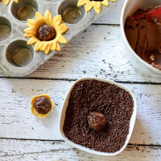 Sunflower Brigadeiro Recipe and Tutorial, a Sweet and Easy Brazilian Candy