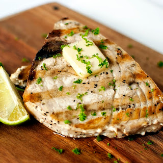 Grilled Swordfish Steak with Ginger and Lime Recipe