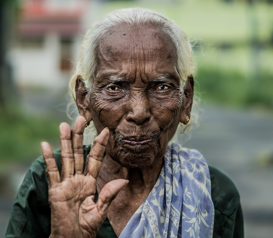 Old Woman by Naveen Joyous - People Portraits of Women ( wrinkles, woman, old woman, people, portrait,  )