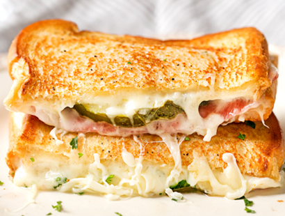 Salami And Cheese Sandwich
