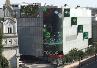 Photo: On the 2nd largest LED wall in Europe, curated by the Streaming Museum. 2010.08.