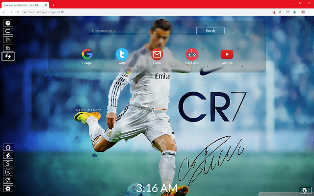 Cristiano Ronaldo CR7 Full HD New Tab