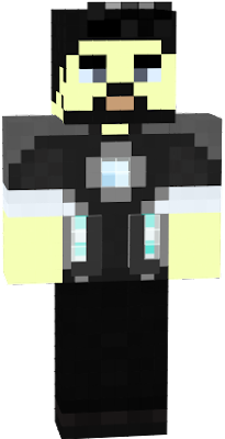This is Tony Stark from the first ever ironman movie, I have made him look cool with the hair and the glass on the arc reactor mini.