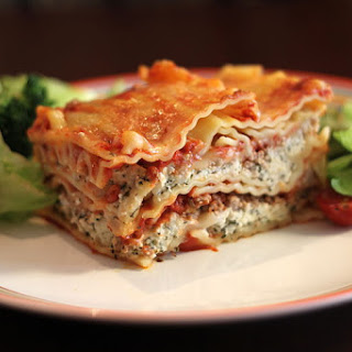 Salmon And Spinach Lasagna.