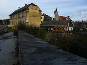 Photo: Widok od zamku w stronę centrum miejscowości.