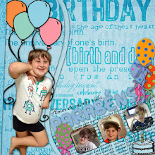 Photo: New Wave Templates by Dido Designs Celebrate 1 Year by ScrapDesafios Font Blackadder ITC PS CS5