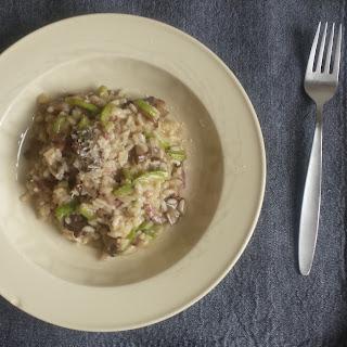 Mushroom, Zucchini and Pancetta Risotto