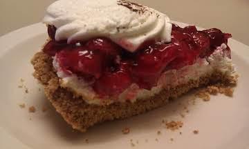 Cherry Cheesecake With A Graham Cracker Crust