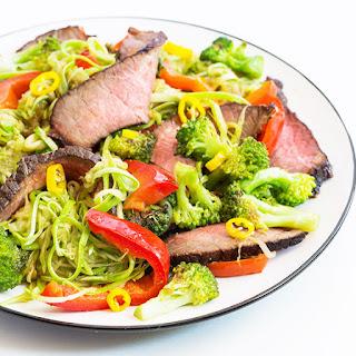 Beef Teriyaki Zucchini Noodles.