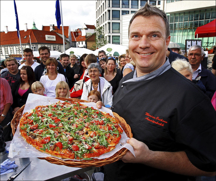 Marius Eriksen winning pizza championship