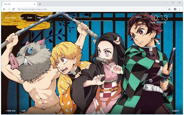 Kimetsu No Yaiba Demon Slayer Anime New Tab