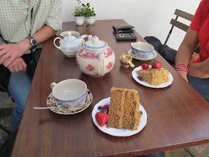 Photo: Tea and coffee walnut cake