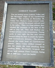 Photo: sign for Lookout Valley - where we were looking in the previous pics. I can't believe soldiers scaled this mountain!