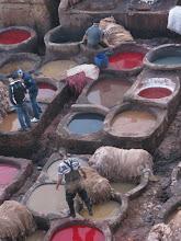Photo: garbarnie w Fezie