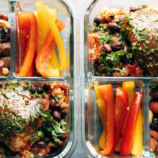 Spicy Chicken Meal Prep with Rice and Beans Recipe