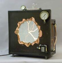 Photo: Steampunk plasma portal and lamp