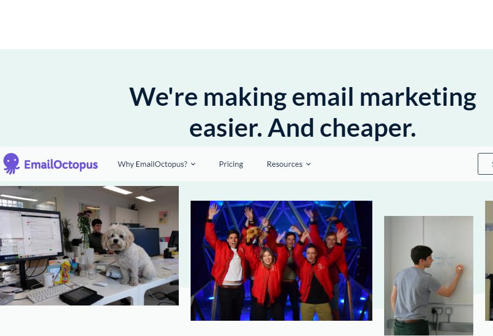 EmailOctopus email marketing platform
