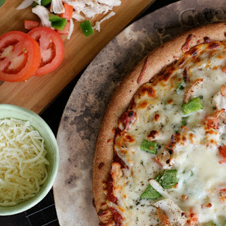 Turkey Tomato Cheese Pizza