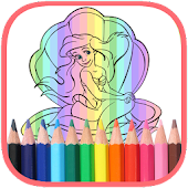 Download Coloring Princess Mermaid Book APK on PC