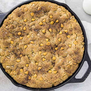 Butterscotch Snickerdoodle Skillet Cookie