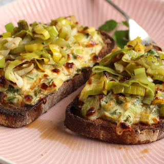Leek and Caerphilly Welsh Rarebit Recipe