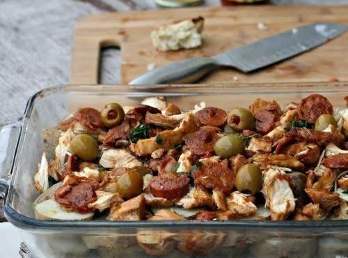 Portuguese Chicken Casserole Recipe