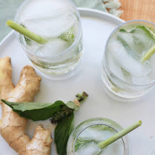 Ginger, Lemongrass and Thai Basil Sparkler.