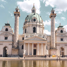 Wonderful Vienna  by Helga Be - Buildings & Architecture Public & Historical ( karlskirche )
