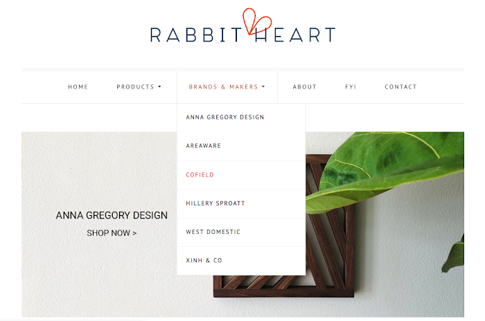 An example of an ecommerce site that sells curated goods from other makers.