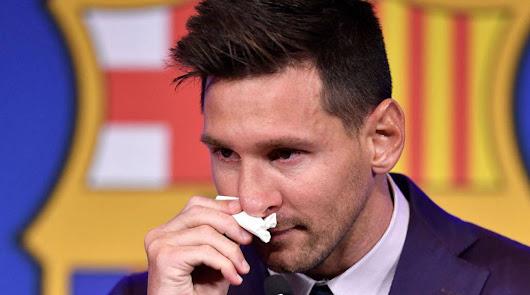 Messi se muerde la lengua