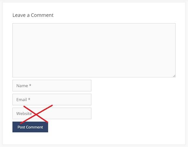 Menghilangkan Kolom URL di Komentar