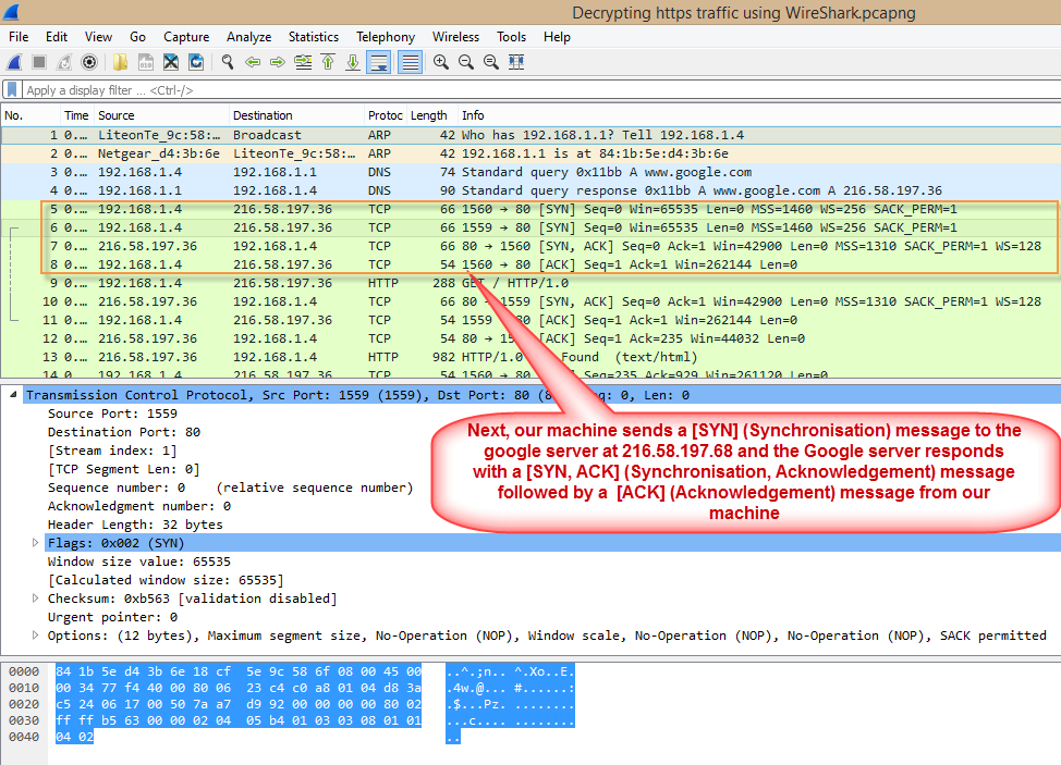 WireShark SYN ACK messages.png