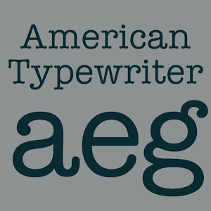 American Typewriter Flipfont 1 0 APK by Monotype Imaging Inc  Details