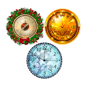 3 New Year Clockfaces For Battery Saving Clocks