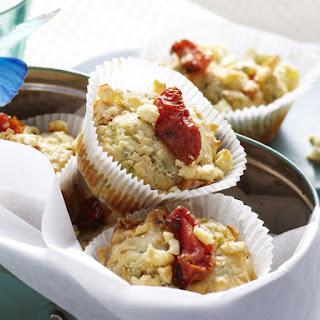 Zucchini, Feta and Tomato Muffins.