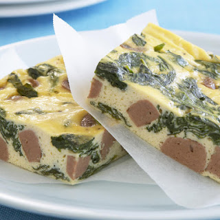 Tofu, Spinach and Sausage Frittata.