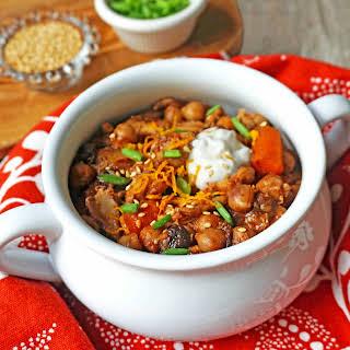 Crock Pot Chicken Carrot & Chickpea Tagine.