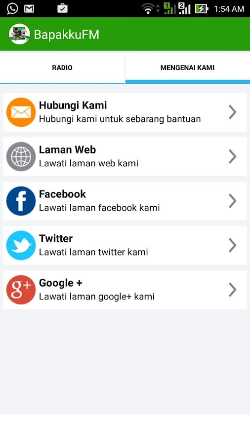BapakkuFM- screenshot