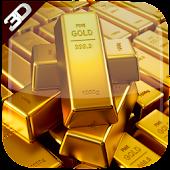 3D Golden Bricks LiveWallpaper