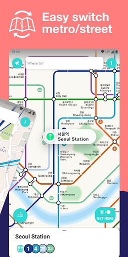 Seoul Metro Subway Map and Route Planner screenshot 2