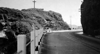 Photo: Mirante do Cristo, na Rodovia Washington Luis, ainda em construção. Foto do final da década de 30