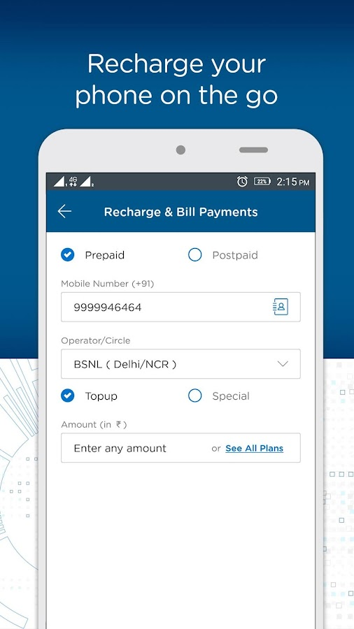 BSNL Wallet - Recharges, Bill Payments, Shopping- screenshot