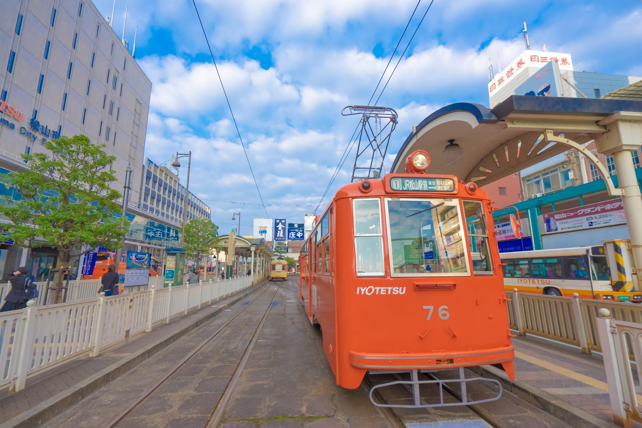 松山 市内電車(路面電車)3