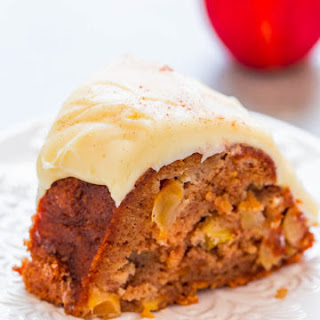 Apple Cinnamon Spice Cake with Cream Cheese Frosting.