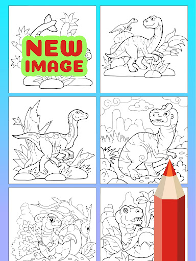 Cute Animated Dinosaur Coloring Pages - screenshot