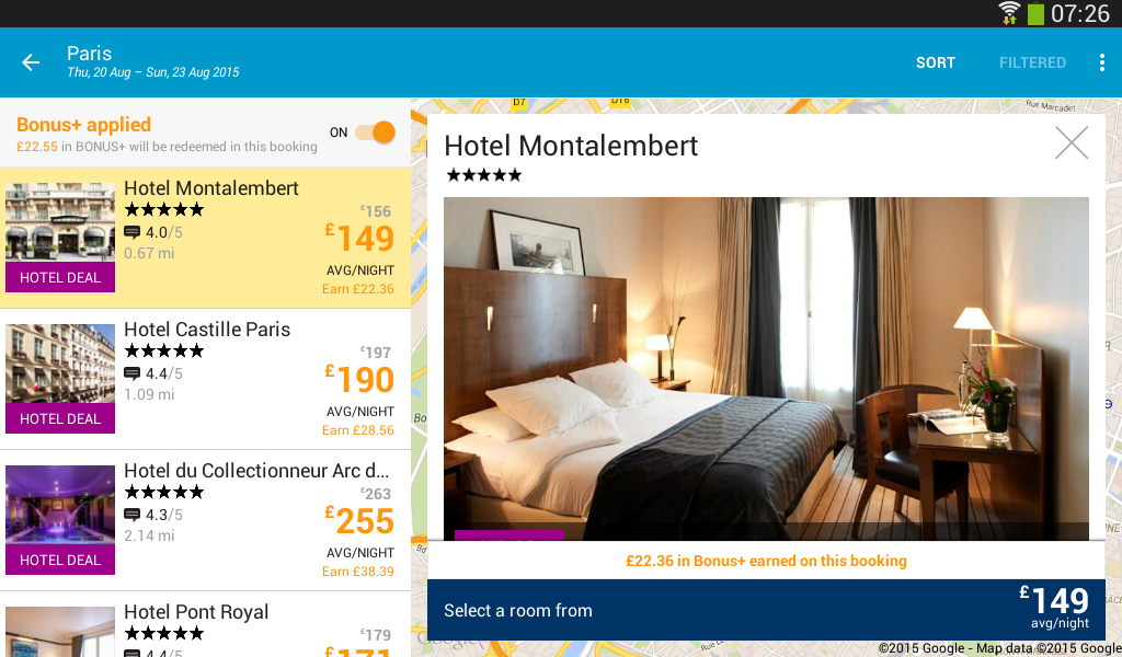 ebookers: Hotel, Flights, Cars - screenshot