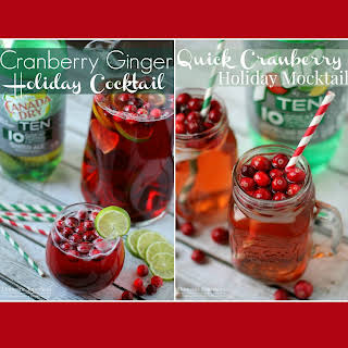 Cranberry Ginger Holiday Cocktail.