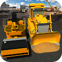 Roads Construction Roller 3D icon