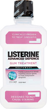 Listerine Advanced Defence Mouthwash - Crisp Mint, Gum Treatment, 250ml